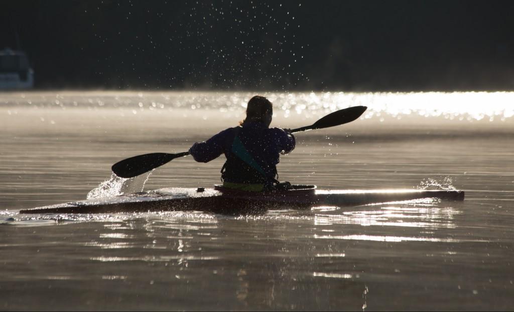 kayak contre jour